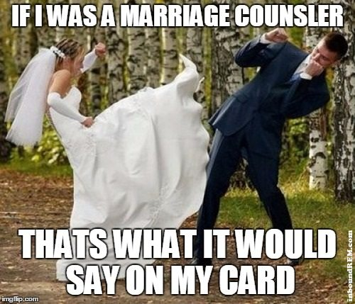 Real Estate meme - I am NOT a marriage counselor