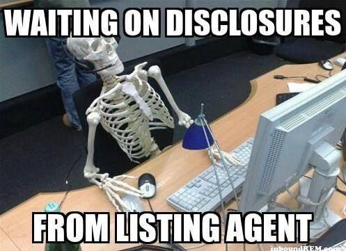 Real Estate Meme - Waiting on disclosures