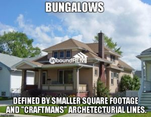 """Bungalow Image   Example for """"The top 50 real estate niches"""" blog post."""
