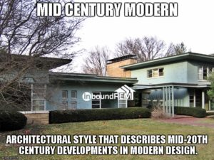 Mid Century Modern Home   Example in the blog post Top 50 real estate niches.
