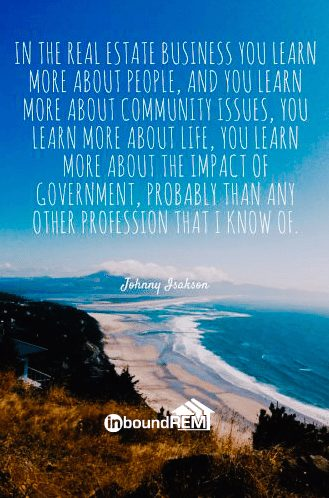 Johnny Isakson Real Estate Quote